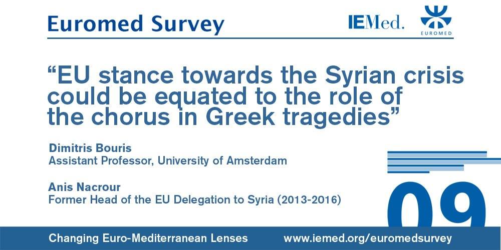 "New article by Dimitris Bouris and Anis Nacrour ""The Ins and Outs of the EU's Shortcomings in Syria"" – in EuroMed Survey"