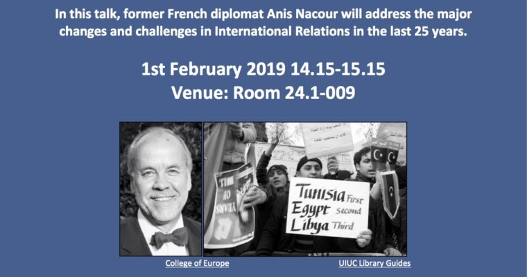 "Guest lecture: Anis Nacrour ""The 'Arab Spring' and its Global Consequences"" – Roskilde, 1 February 2019"