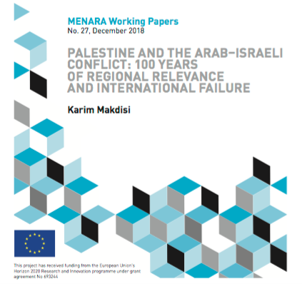 "New paper by Karim Makdisi ""Palestine and the Arab–Israeli Conflict: 100 Years of Regional Relevance and International Failure"""