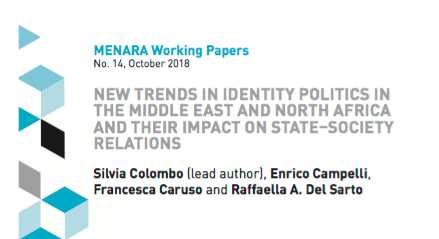 "New article co-authored by Silvia Colombo ""New Trends in Identity Politics in the Middle East and North Africa and Their Impact on State–Society Relations"""