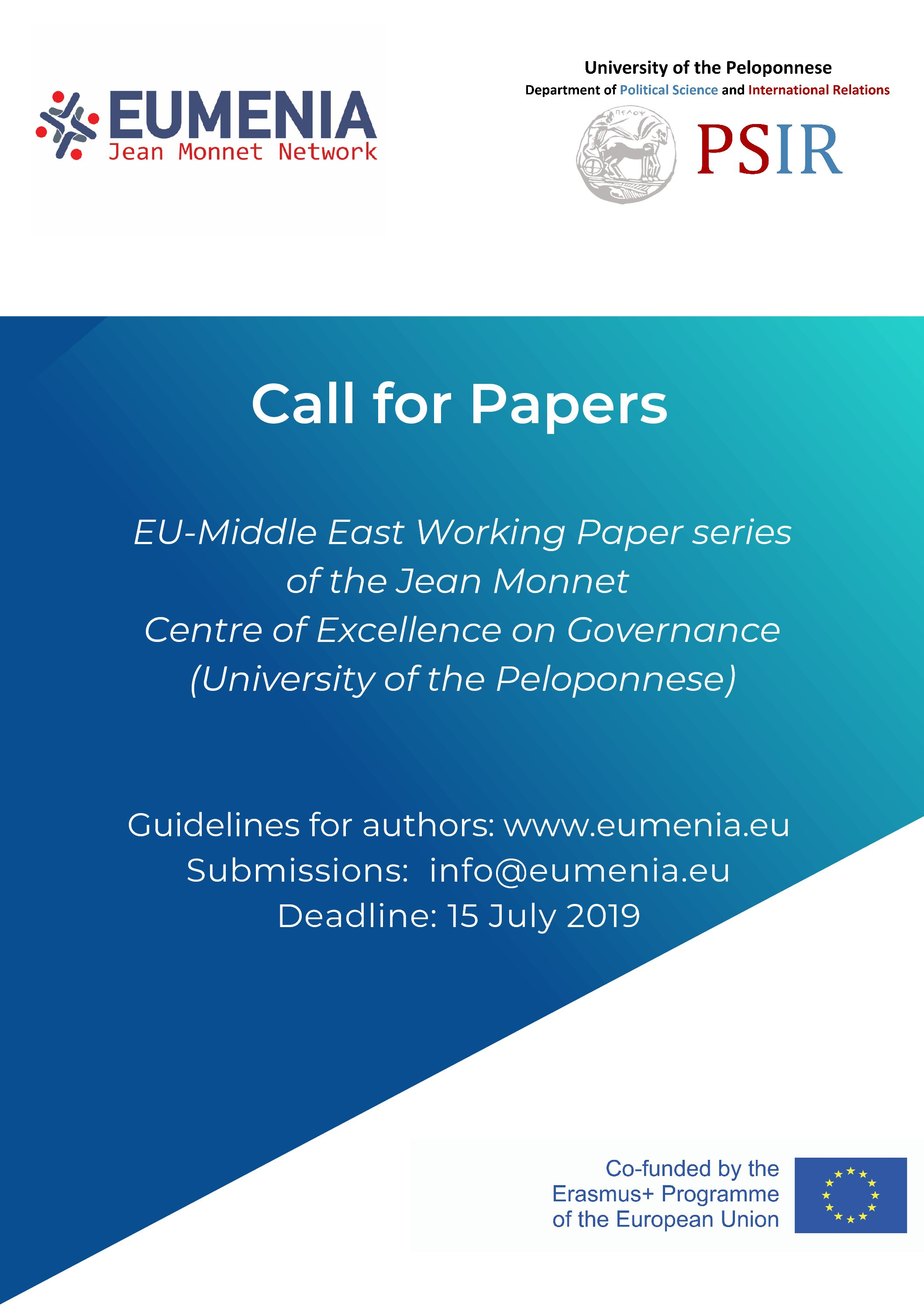 Call for Papers – EU-Middle East Working Paper Series