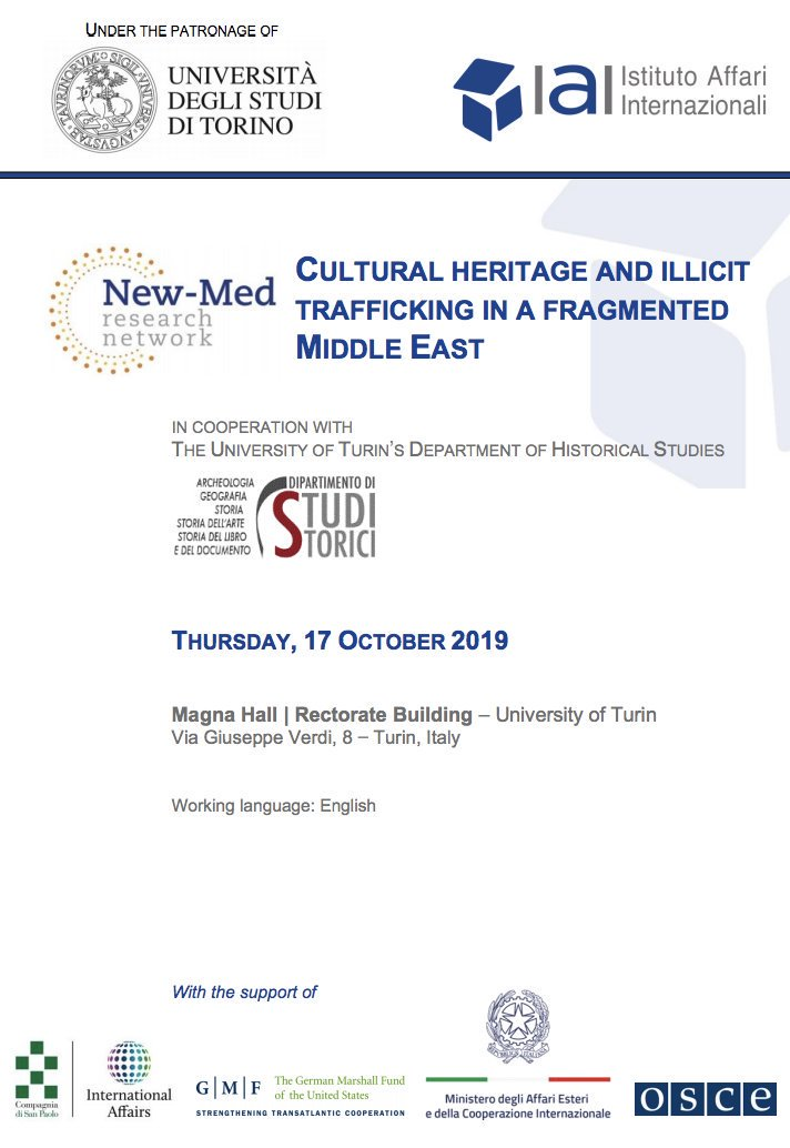 "Event: conference on ""Cultural heritage and illicit trafficking in a fragmented Middle East"""