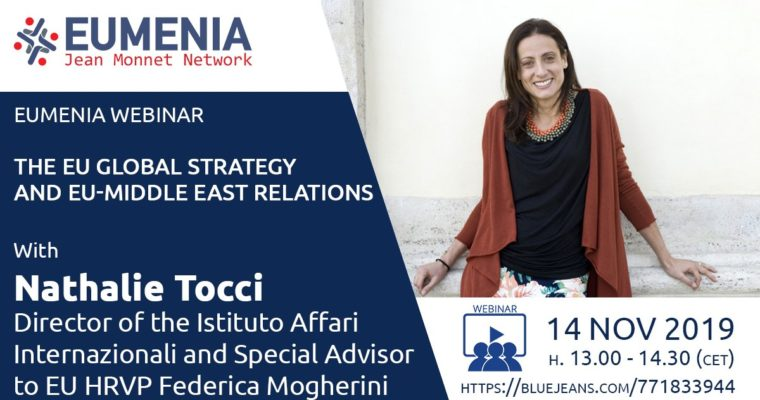 Event: EUMENIA webinar with Nathalie Tocci