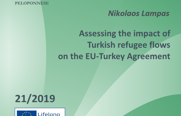 "Working paper n°1 ""Assessing the Impact of Turkish Refugee Flows on the EU-Turkey Agreement"" by Dr. Nikolaos Lampas"