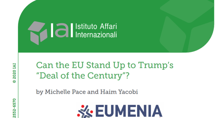 "New article by Prof. Michelle Pace and Prof. Haim Yacobi ""Can the EU Stand Up to Trump's ""Deal of the Century""?"""