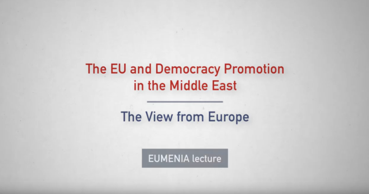 New lecture: EU and democracy promotion in the Middle East (a European perspective) by Dr. Huber