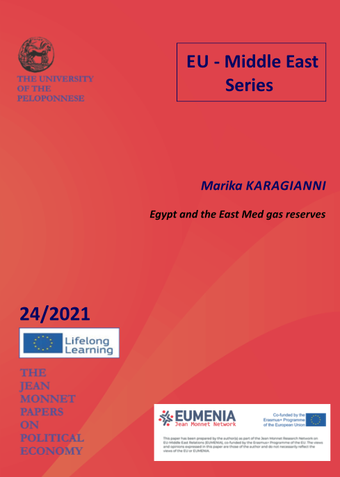 """WORKING PAPER N°4 """"Egypt and the East Med gas reserves"""" by Dr. Marika Karagianni"""