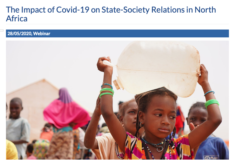"""Webinar on """"The Impact of Covid-19 on State-Society Relations in North Africa"""", Istituto Affari Internazionali (IAI)"""