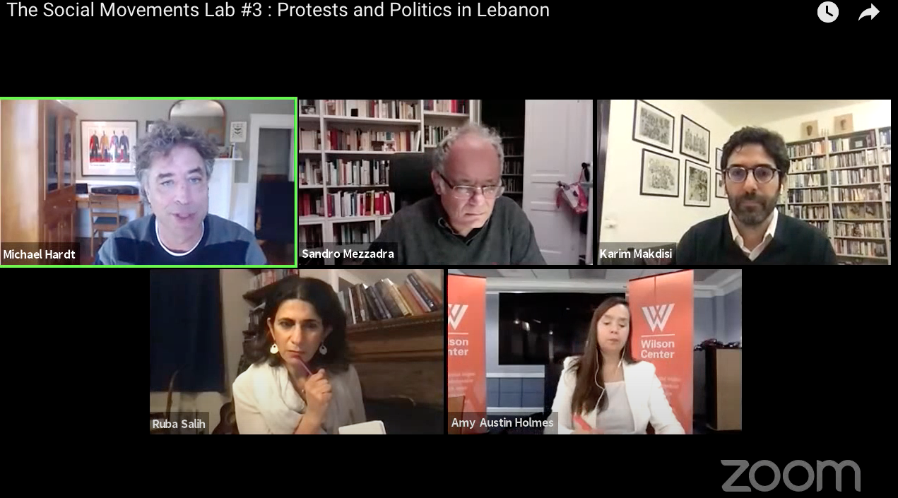 """Dr Karim Makdisi was interviewed by Michael Hardt and Sandro Mezzadra from """"The Social Movements Lab #3:Protests and Politics in Lebanon"""""""