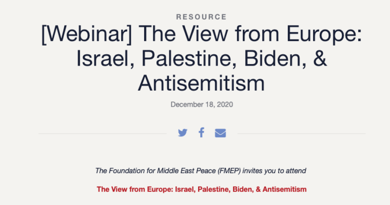 """Dr Dimitris Bouris Participated as a speaker in the Webinar """"The View from Europe: Israel, Palestine, Biden, & Antisemitism"""" – Available on youtube"""