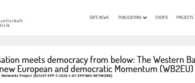 """Prof Nikolaos Tzifakis participated in a new Jean Monnet Network Project entitled """"Europeanisation meets democracy from below: The Western Balkans on the search for new European and democratic Momentum (WB2EU)"""""""