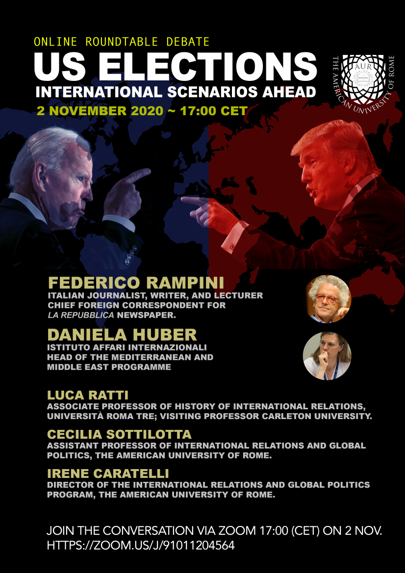 """Dr Daniela Huber participated at the panel of the event """"US Elections: International Scenarios Ahead"""""""