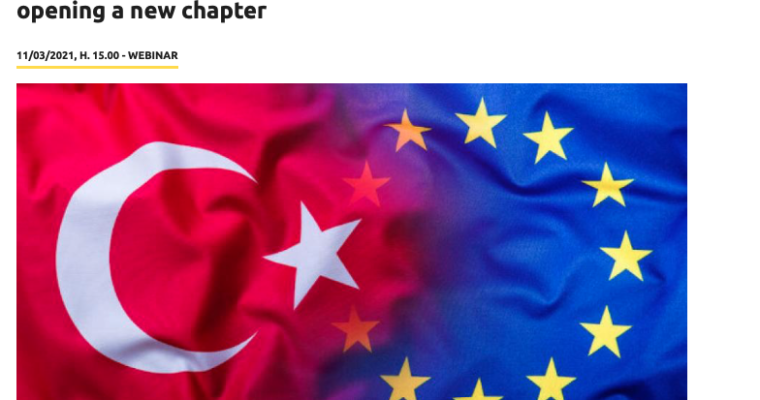 """Webinar: """"The Eastern Mediterranean and EU-Turkey relations: opening a new chapter"""" with Nathalie Tocci, IAI Director"""