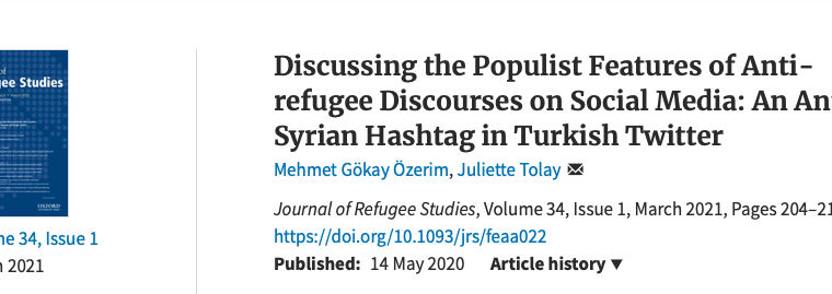 """New article by Prof. Emre İşeri """"Framing the Syrian Operations: Populism in Foreign Policy and the Polarized News Media of Turkey"""""""