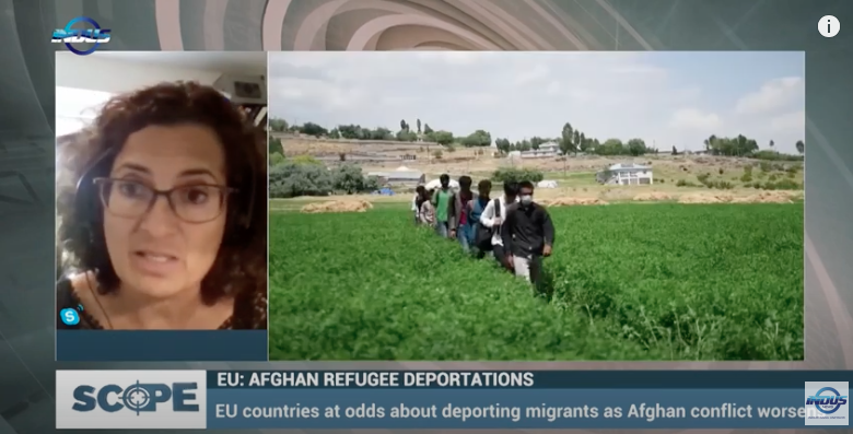 """Prof. Michelle Pace discussed the recent events in Afghanistan: """"The EU: Afghan refugee deportations"""""""